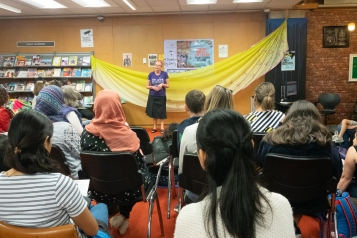 Lorraine our Te Reo speaker and crowd